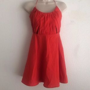 Zara Trafaluc Collection Orange Red Dress